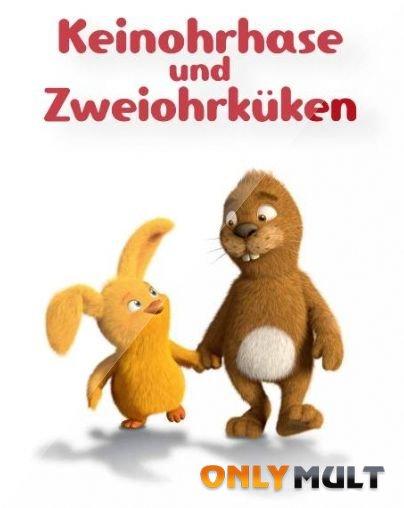 Poster Безухий заяц и двуухий цыпленок