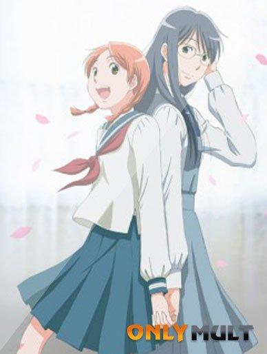 Poster Голубые цветы