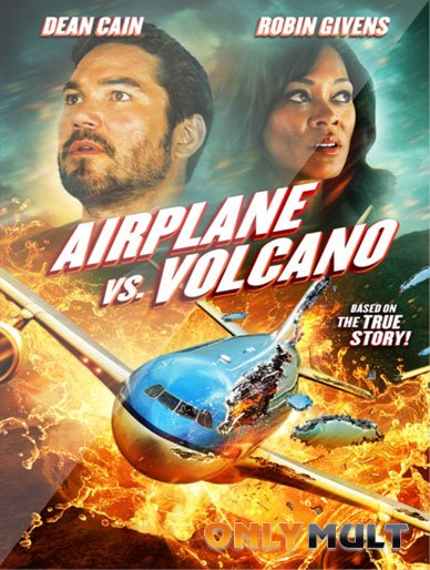 Poster Самолет против вулкана