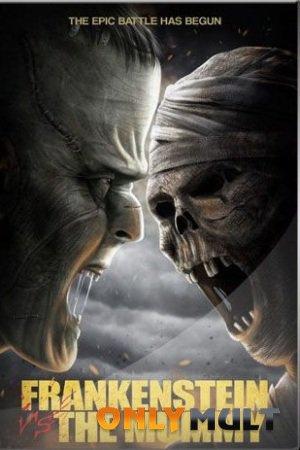 Poster Франкенштейн против мумии
