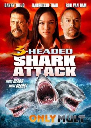 Poster Нападение трёхголовой акулы
